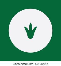 Dinosaur Footprint icon silhouette vector illustration