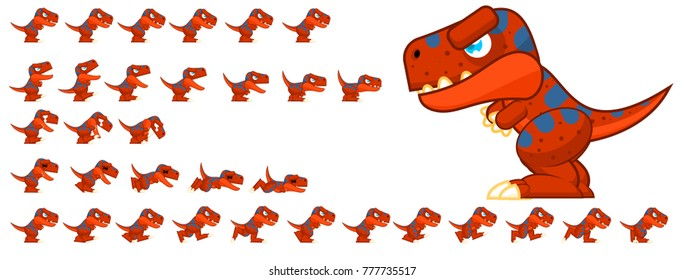 Dinosaur game character for creating stone age themed video games