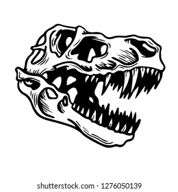 Dinosaur head illustration.