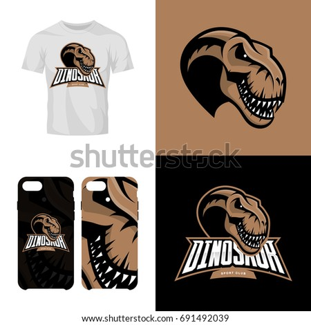 3f02e267 Modern professional team badge mascot design. Premium quality wild reptile t-shirt  tee print illustration. Smart phone case accessory emblem. - Vector