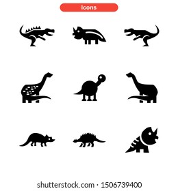 dinosaur icon isolated sign symbol vector illustration - Collection of high quality black style vector icons