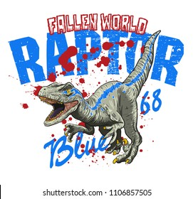 dinosaur illustration for boy's wear, kid's fashion and more