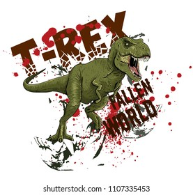 Dinosaur illustration for boy's wear, kid's fashion and more...
