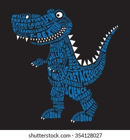 Dinosaur illustration, typography, t-shirt graphics, vectors
