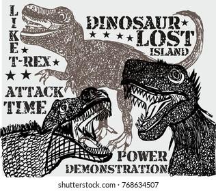 Dinosaur life graphic design vector art