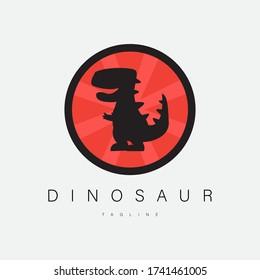 Dinosaur logo icon illustration design, for brand needs etc.