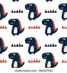 dinosaur pattern illustration vector.