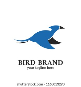 Dinosaur pterosaurs Blue Bird silhouette logo icon brand illustration