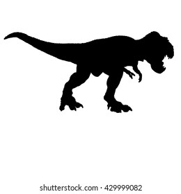 dinosaur silhouette on white background