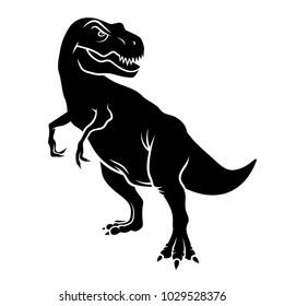 Dinosaur silhouette. Vector illustration. Tyrannosaurus
