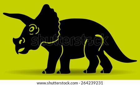 dinosaur silhouette vector triceratops vector logo template stock