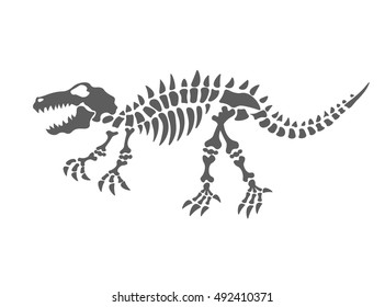dinosaur skeleton vector illustration. The fossil