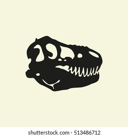 Dinosaur skull, vector illustration