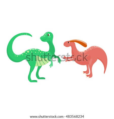 Dinosaur Spinosaurus Cartoon Vector Illustration Vector de stock ...