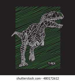 Dinosaur T rex illustration , typography, t-shirt graphics, vectors