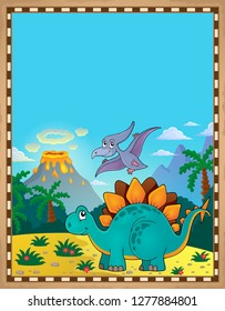 Dinosaur theme parchment 5 - eps10 vector illustration.