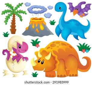 Dinosaur theme set 2 - eps10 vector illustration.
