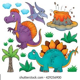 Dinosaur topic set 2 - eps10 vector illustration.