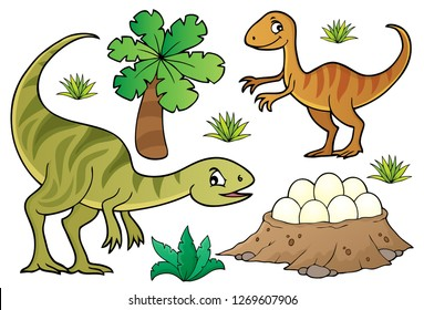 Dinosaur topic set 7 - eps10 vector illustration.