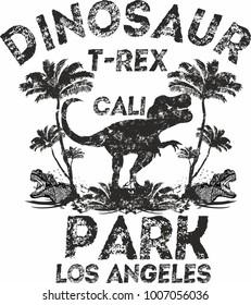 Dinosaur trex  tshirt graphic design vector art
