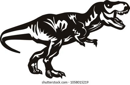 a dinosaur t-rex vector