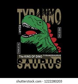 dinosaur typography t shirt printing