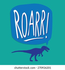 Dinosaur typography, t-shirt graphics, vectors