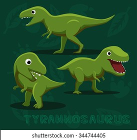 Dinosaur Tyrannosaurus Cartoon Vector Illustration