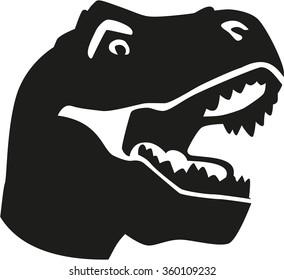 Dinosaur tyrannosaurus head