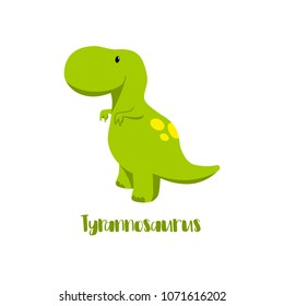 Dinosaur Tyrannosaurus Rex icon in flat style for designing dino party, children holiday, dinosaurus related materials. For card, poster, banner, logo, icon. Jurassic park theme.