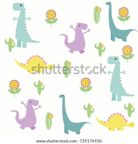 Dinosaur Wallpaper Design Cute And Funny Series