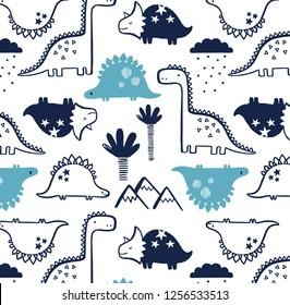 Dinosaurs Baby Print Pattern