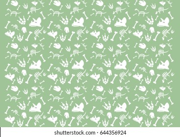 dinosaurs background with bones