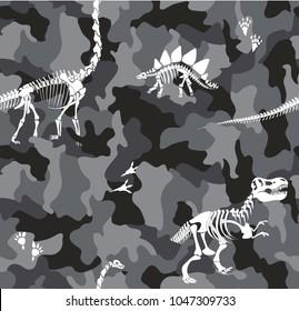 dinosaurs camouflage pattern