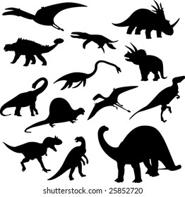 dinosaurs collection - vector