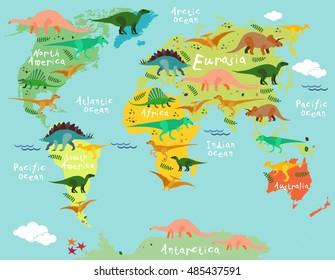 Prehistoric Map Stock Vectors Images Vector Art Shutterstock