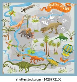 Dinosaur Map Images, Stock Photos & Vectors   Shutterstock on