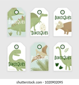 Dinosaurs vector design, tyrannosaurus rex, triceratops and diplodocus