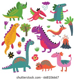 Dinosaurs vector set