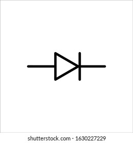 Diode Component Symbol For Circuit Design
