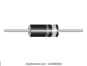 A diode is a semiconductor device having two contacts - an anode and a cathode, a current is passed through the diode.