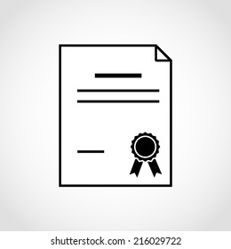 Diploma certificate Icon Isolated on White Background