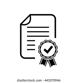 Diploma certificate icon vector illustration isolated on white background