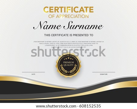 diploma certificate template black gold color のベクター画像素材