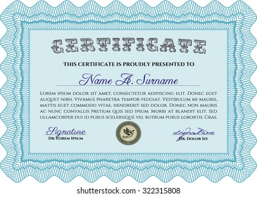 Diploma or certificate template. Customizable, Easy to edit and change colors.Modern design. Printer friendly.