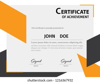 Diploma or Certificate template letter size vector illustration
