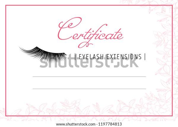 diploma eyelash extensions makeup certificate template. Black Bedroom Furniture Sets. Home Design Ideas