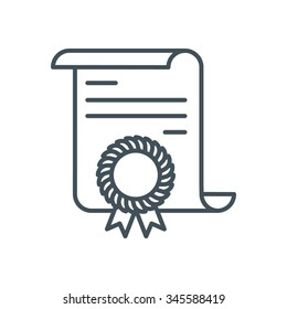 Diploma  icon suitable for info graphics, websites and print media and  interfaces. Line vector icon.