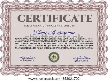 Diploma Template Certificate Template Border Frame Good Stock Vector