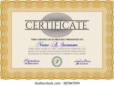 layout text format certification certificates that のベクター画像